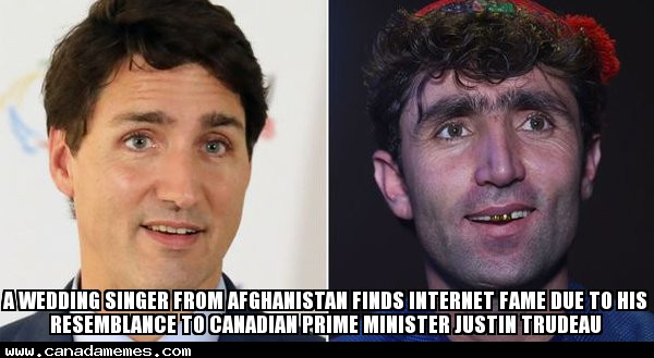 🇨🇦 A wedding singer from Afghanistan finds internet fame due to his resemblance to Canadian prime minister Justin Trudeau