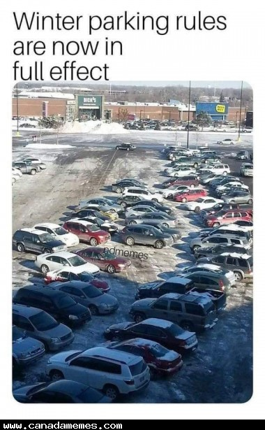 🇨🇦 Winter parking rules are now in full effect