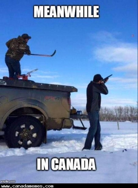 🇨🇦 When the clay pigeon thrower breaks down, you have to improvise