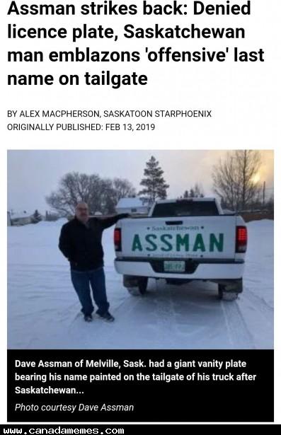 🇨🇦 Assman strikes back!