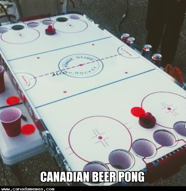 🇨🇦 It's Friday! Time for some Canadian Beer Pong!