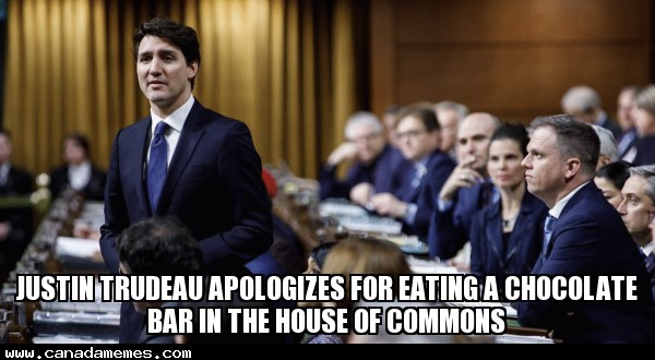 🇨🇦 Justin Trudeau Apologizes For Eating A Chocolate Bar In The House Of Commons