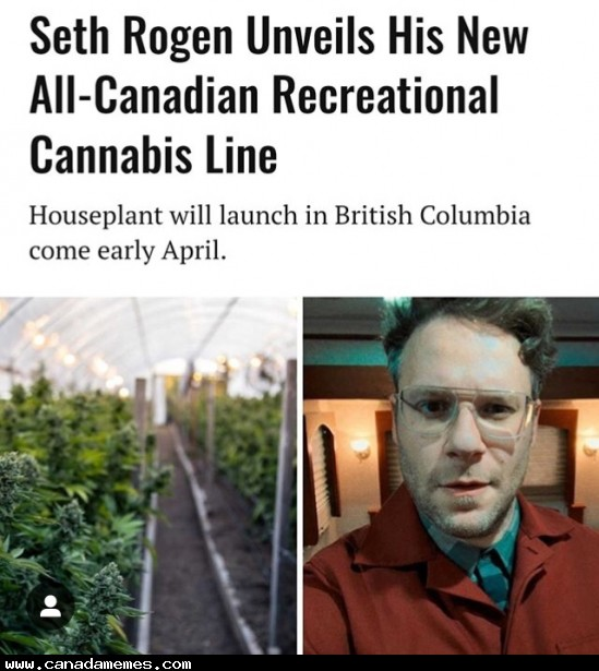 🇨🇦 Seth Rogen unveils his new all Canadian Cannabis line 'Houseplant'