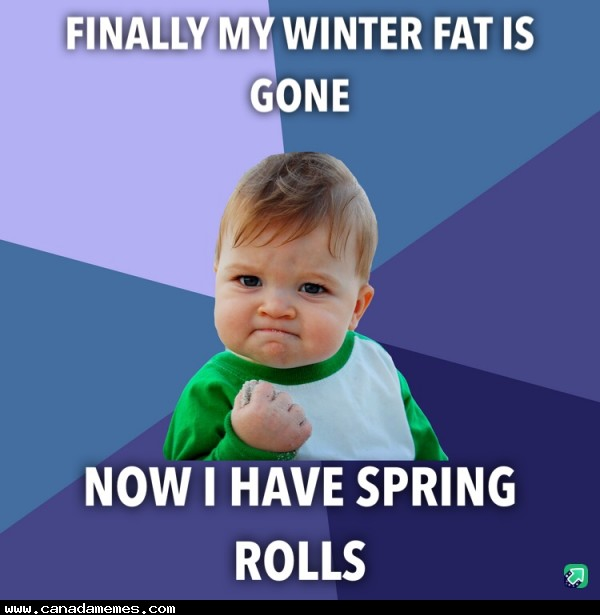 🇨🇦 Finally my winter fat is gone!