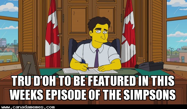 🇨🇦 Tru d'oh to be featured in this weeks episode of the simpsons