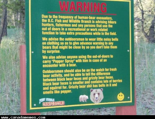 🇨🇦 Warning: Bears