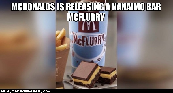 🇨🇦 McDonalds is releasing a Nanaimo Bar McFlurry - So Canadian!!