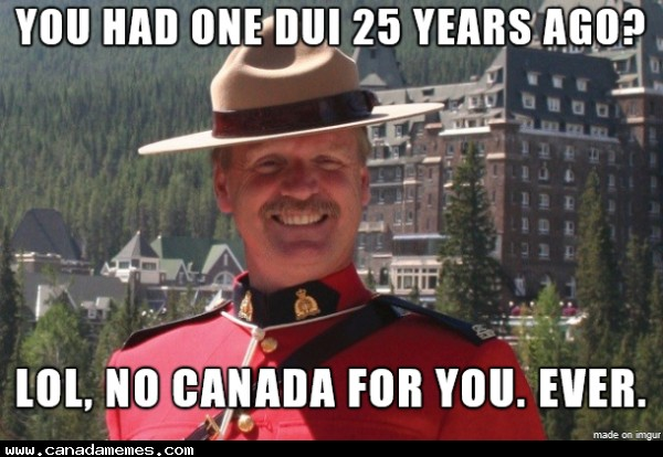 🇨🇦 Overly Protective Canadian Border Agent