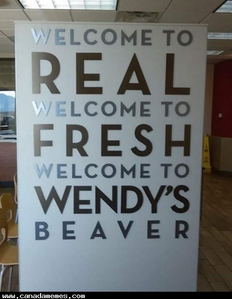 🇨🇦 Welcome to Wendy's Beaver