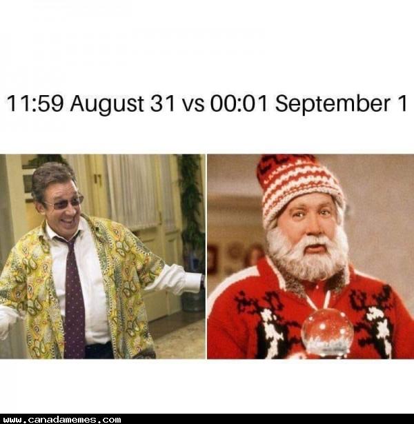 🇨🇦 August vs September