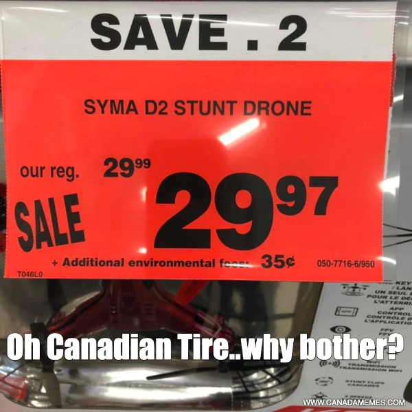 Oh Canadian Tire..why bother?!