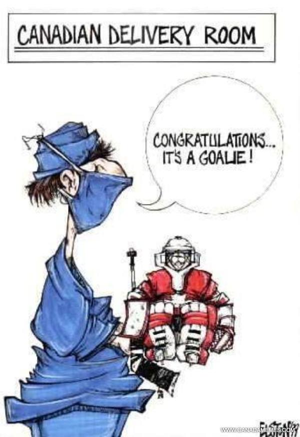 Congratulations...It's a goalie.