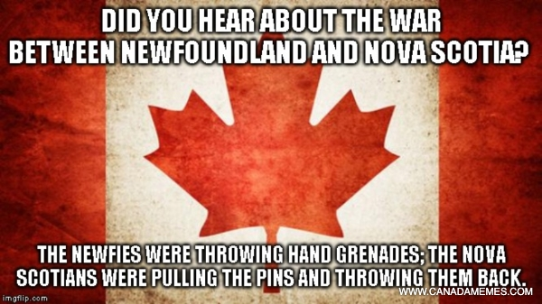 The great war between Newfoundland and Nova Scotia