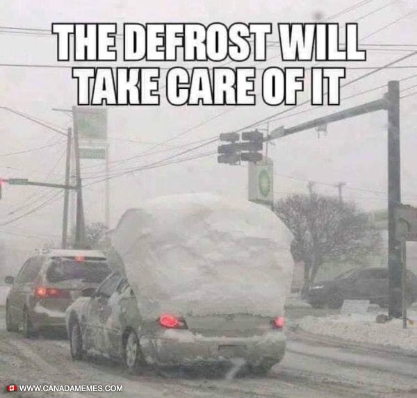 The defrost will take care of it