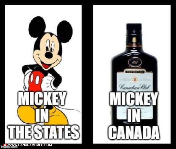 Mickey in Canada vs USA