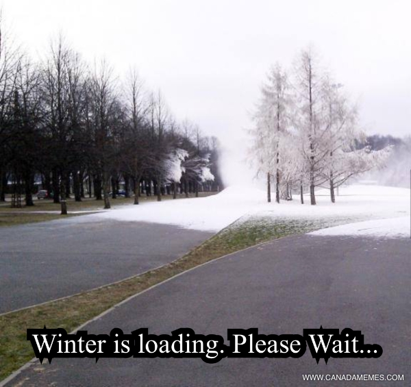 Winter is loading, please wait