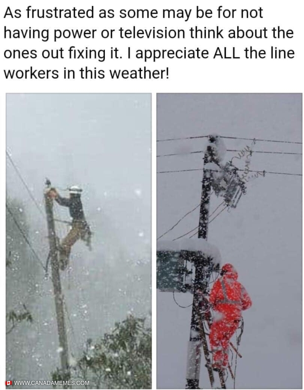 Shoutout to all the line workers!