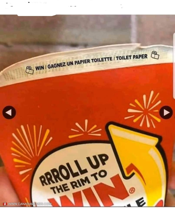 Roll up the rim giving out great prizes this year