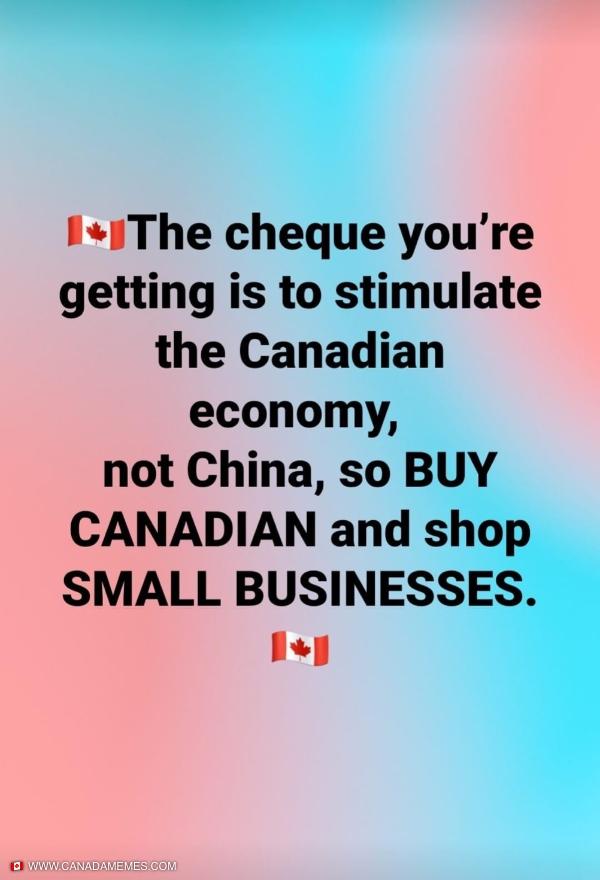 Shop local, buy Canadian!