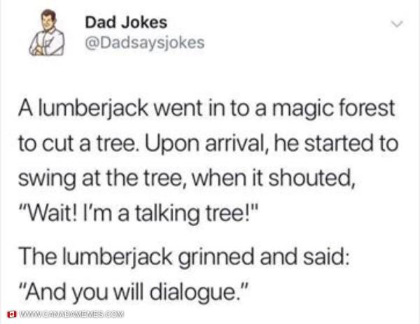 Lumberjack Dad Joke