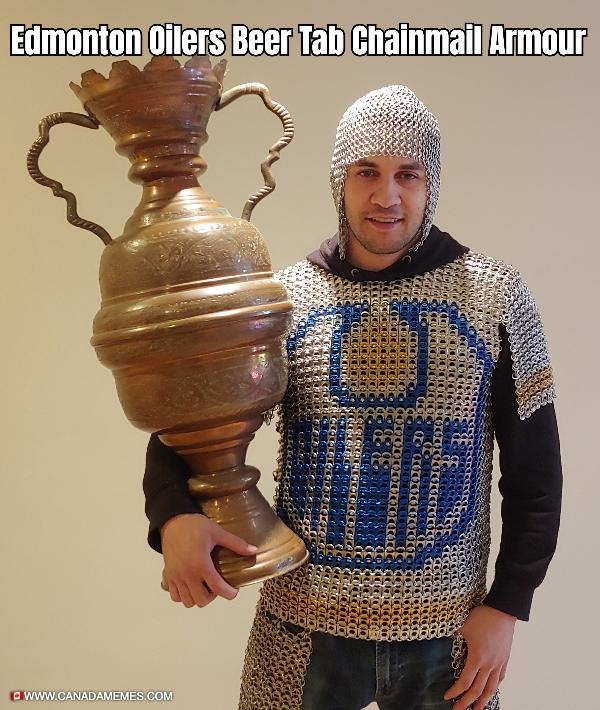 Edmonton Oilers Beer Tab Chainmail Armour