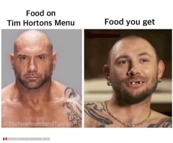 Tim Hortons Menu vs Actual Food You Get