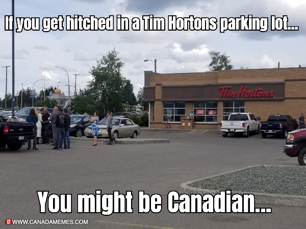 Getting Married at Tims...Most Canadian thing I have seen...today