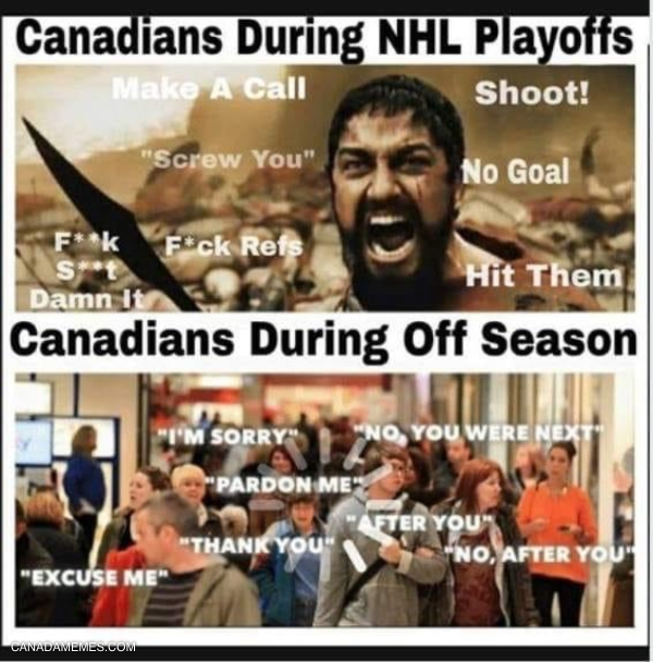Canada: During and after Hockey Playoffs