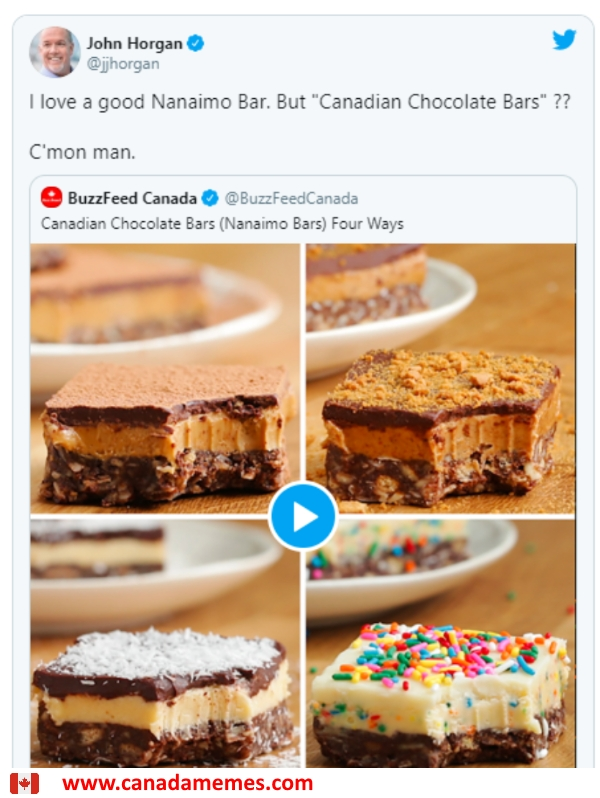 B.C. premier calls out Buzzfeed for dissing Nanaimo Bars