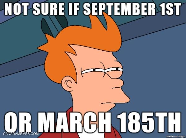Definitely March 185th!