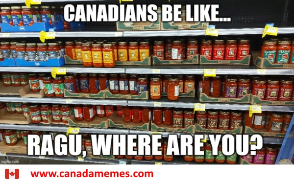 Ragu has stopped selling their products in Canada