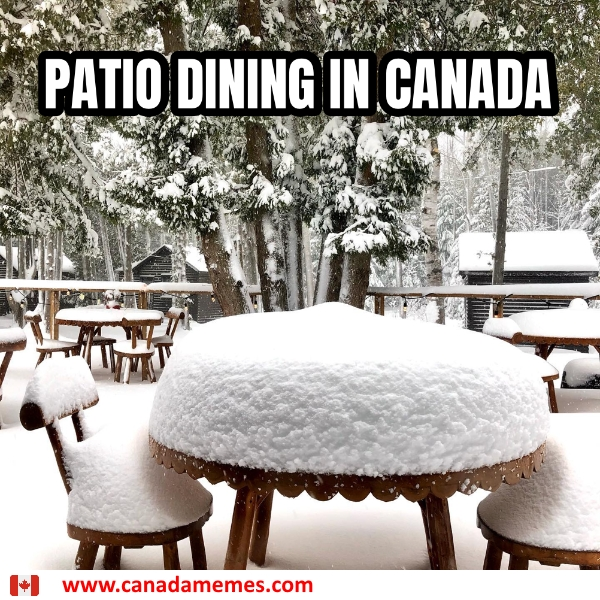 Patio Dining in Canada