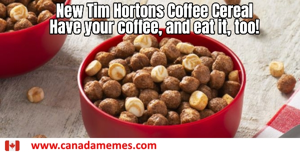 New Tim Hortons Coffee Cereal. Have your coffee, and eat it, too!