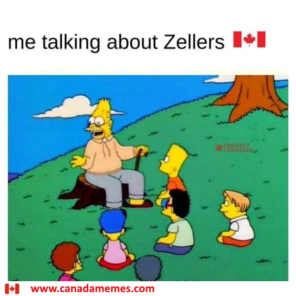 Me talking about Zellers