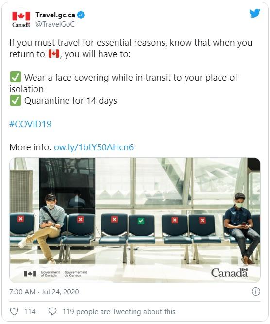 إجراءات عند العودة إلى كندا لابد من الإلتزام بها و ...