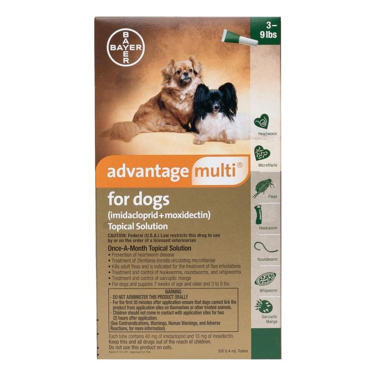 Advantage Multi (Advocate) Small Dogs 3-9 Lbs (Green)