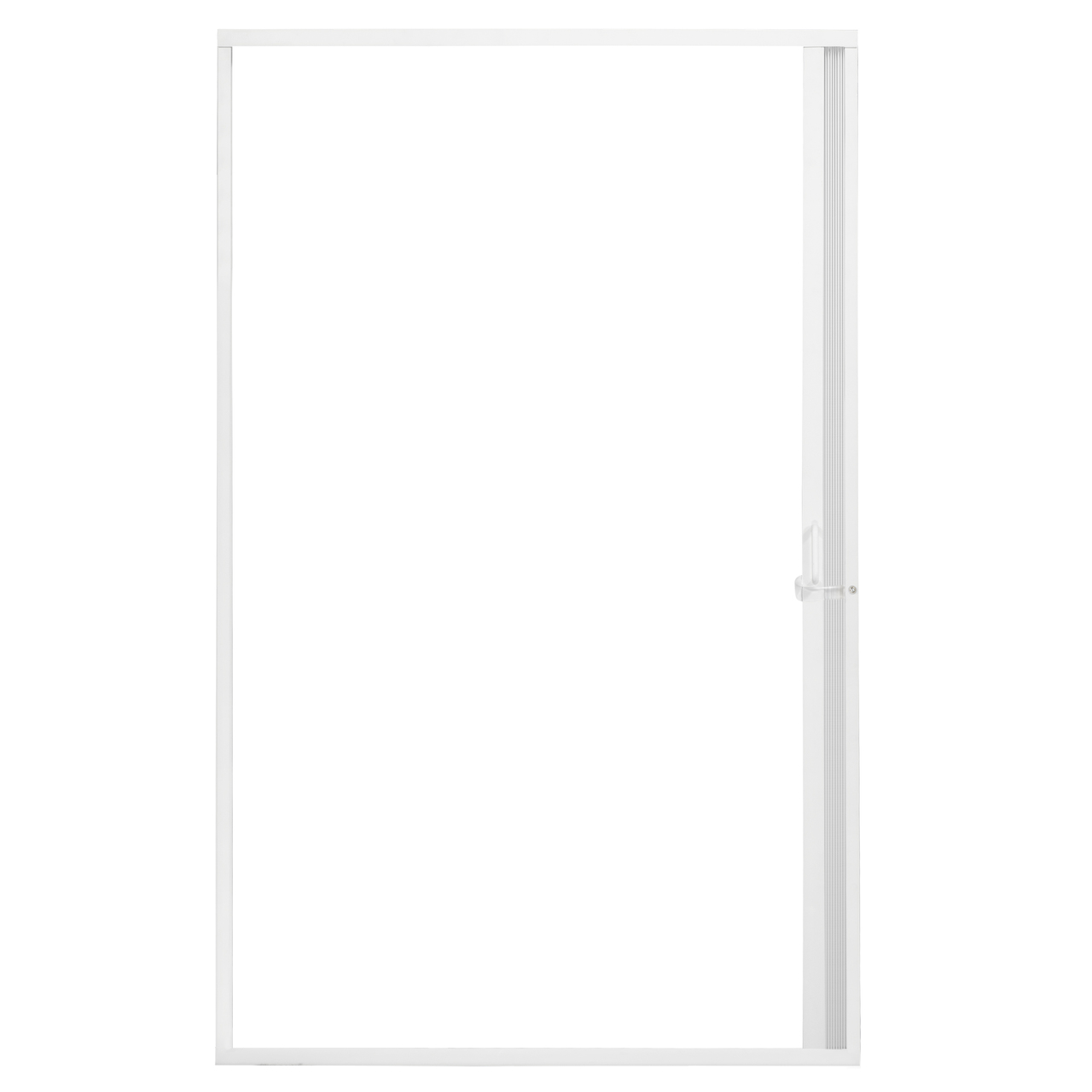 Showers: Pleated Folding RV Shower Doors White