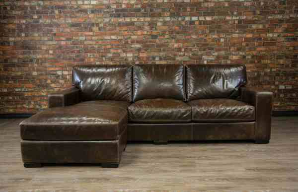 Maxell Deep Seat Leather Chaise Canada' Boss