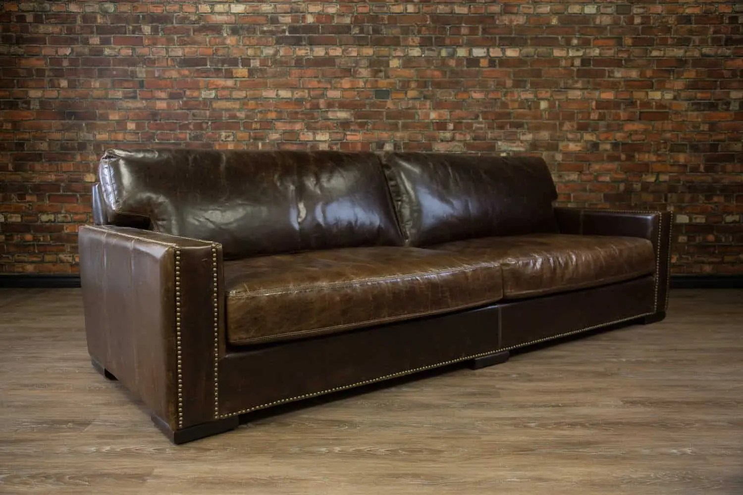 Chartwell Super Sized Deep Seat Leather Sofa  Canadas