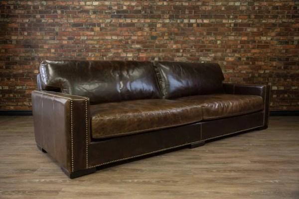 Chartwell Super Sized Deep Seat Leather Sofa Canada'