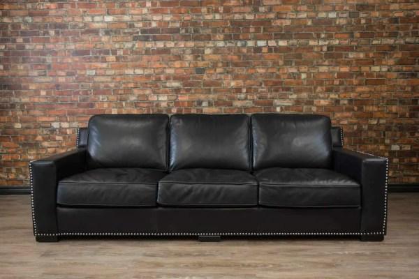 Deep Seat Leather Sofa Seated Loccie