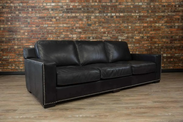 Deep Seat Leather Sofa Maxell Chaise