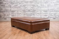 The Leather Coffee Table Ottoman Collection Medium ...