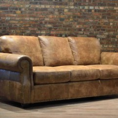 Leather Sofa Bed With Sprung Mattress Hunter Green Pillows The Hoss Double Canada 39s Boss