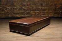 Coffee table ottoman - large | Canada's Boss Leather Sofas ...