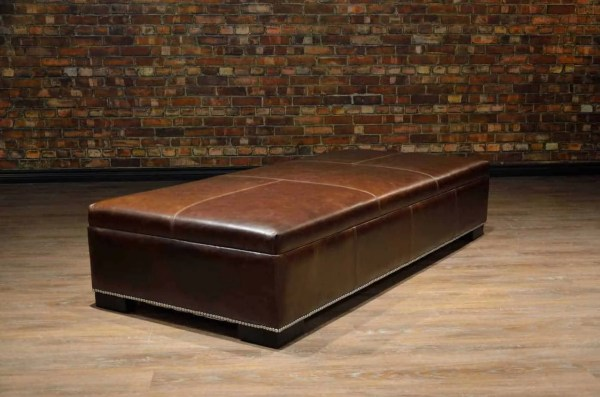 Coffee Table Ottoman - Large Canada' Boss Leather Sofas And Furniture
