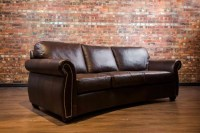 Denver Curved Leather Sofa | Canada's Boss Leather Sofas ...
