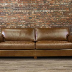 112 Lancaster Leather Sofa Dark Beige Set Large Deep Seat Canada 39s Boss