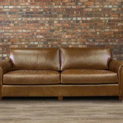 72 Lancaster Leather Sofa Sectional Sleeper Ikea Regular Deep Seat Canada 39s Boss