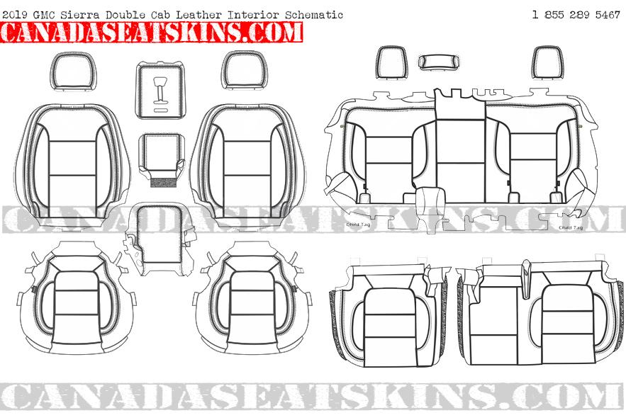 2019 GMC Sierra Katzkin Custom Leather Upholstery